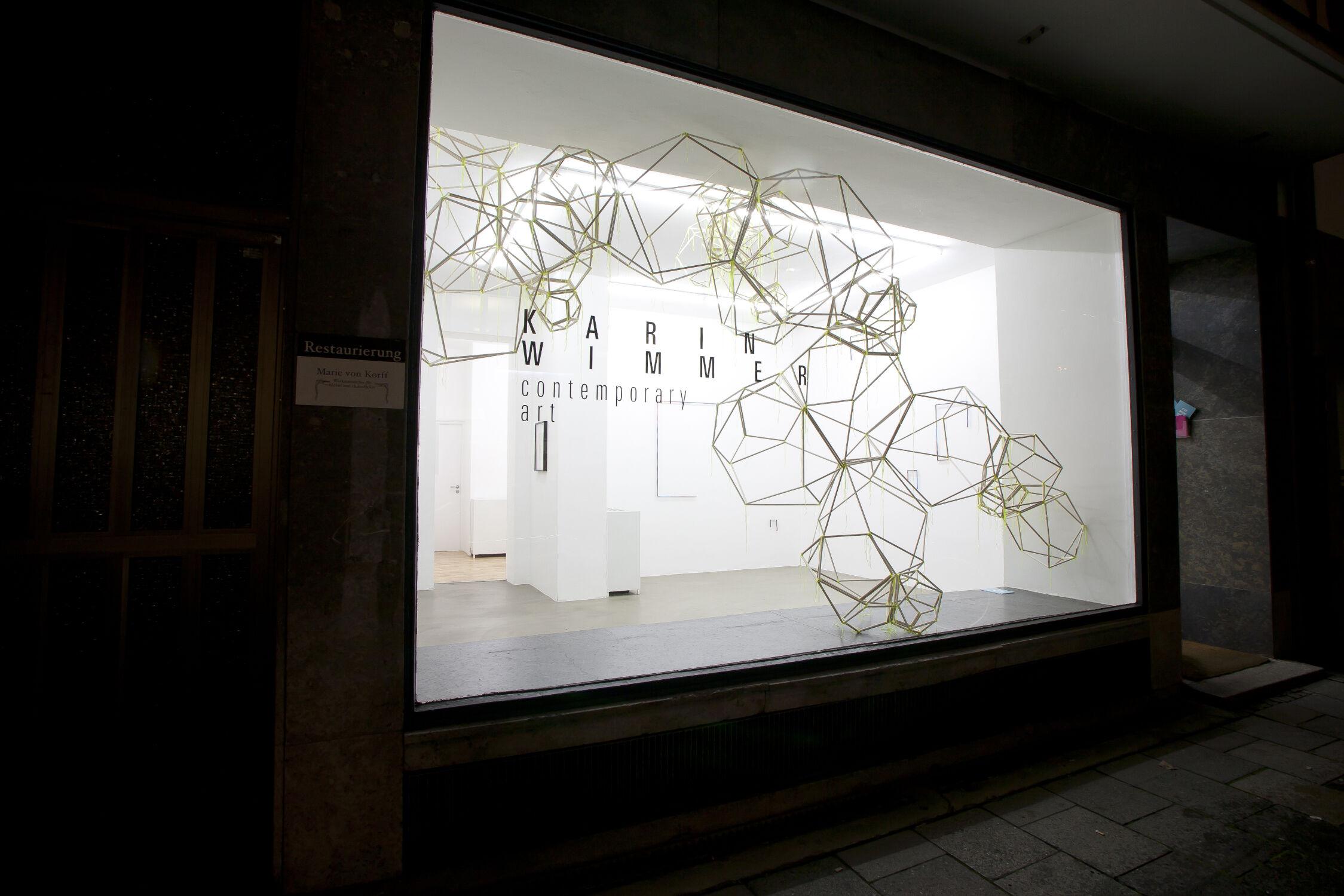 Matthias Männer Ausstellung Installationsansicht Karin Wimmer München