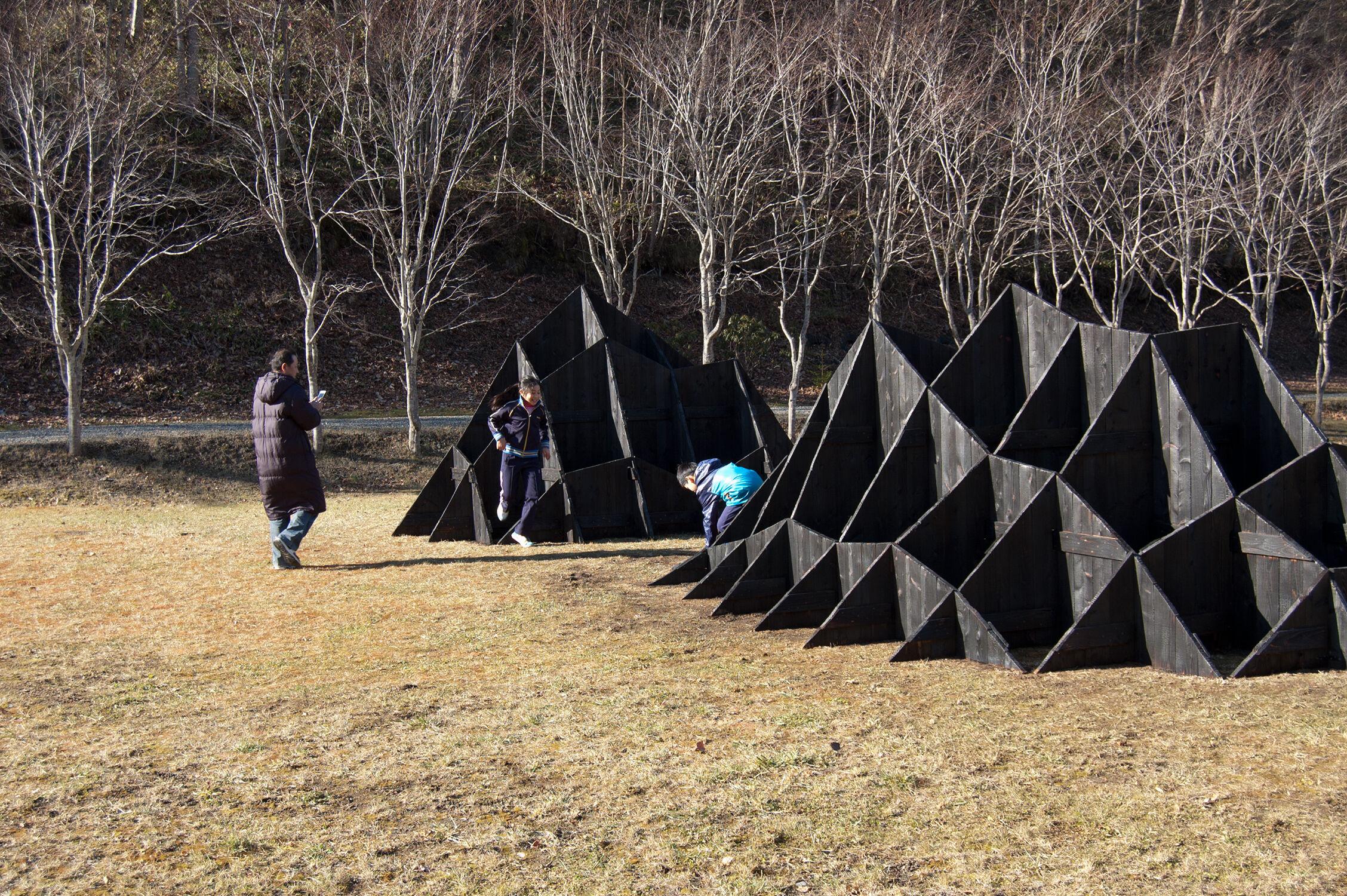 Yakisugi Installation Japan charred wood